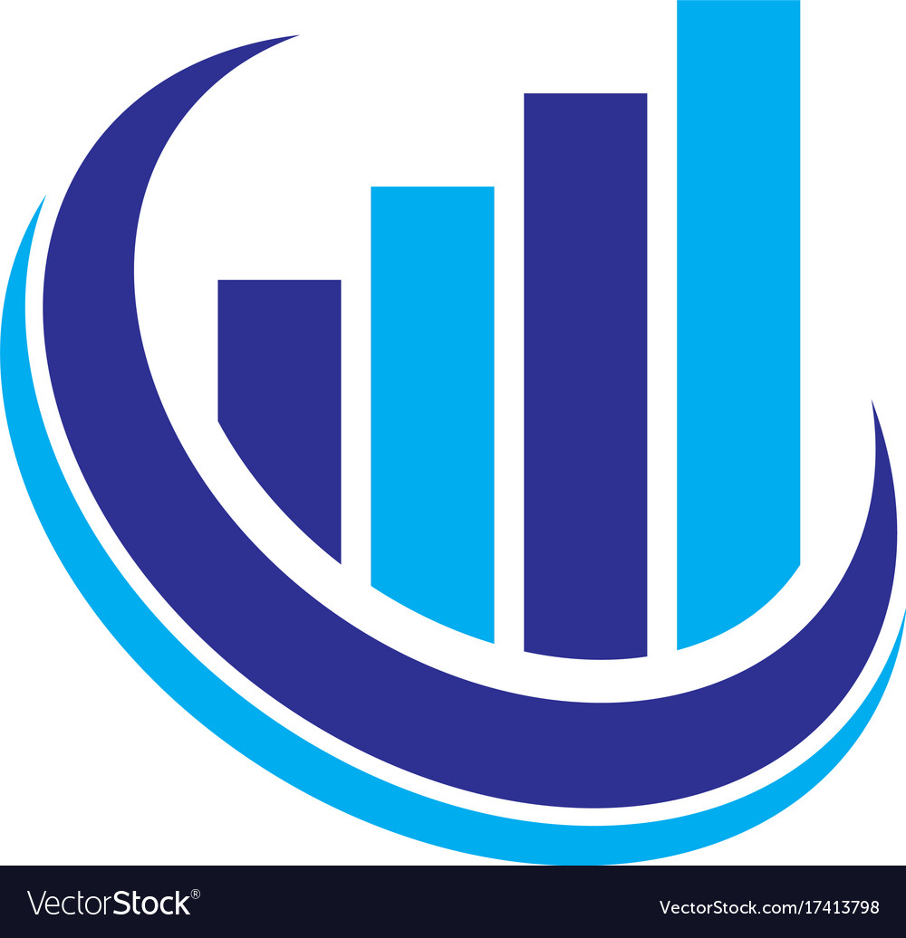 graph finance logo royalty free vector image vectorstock