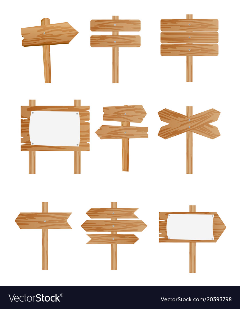 Set of different wooden street