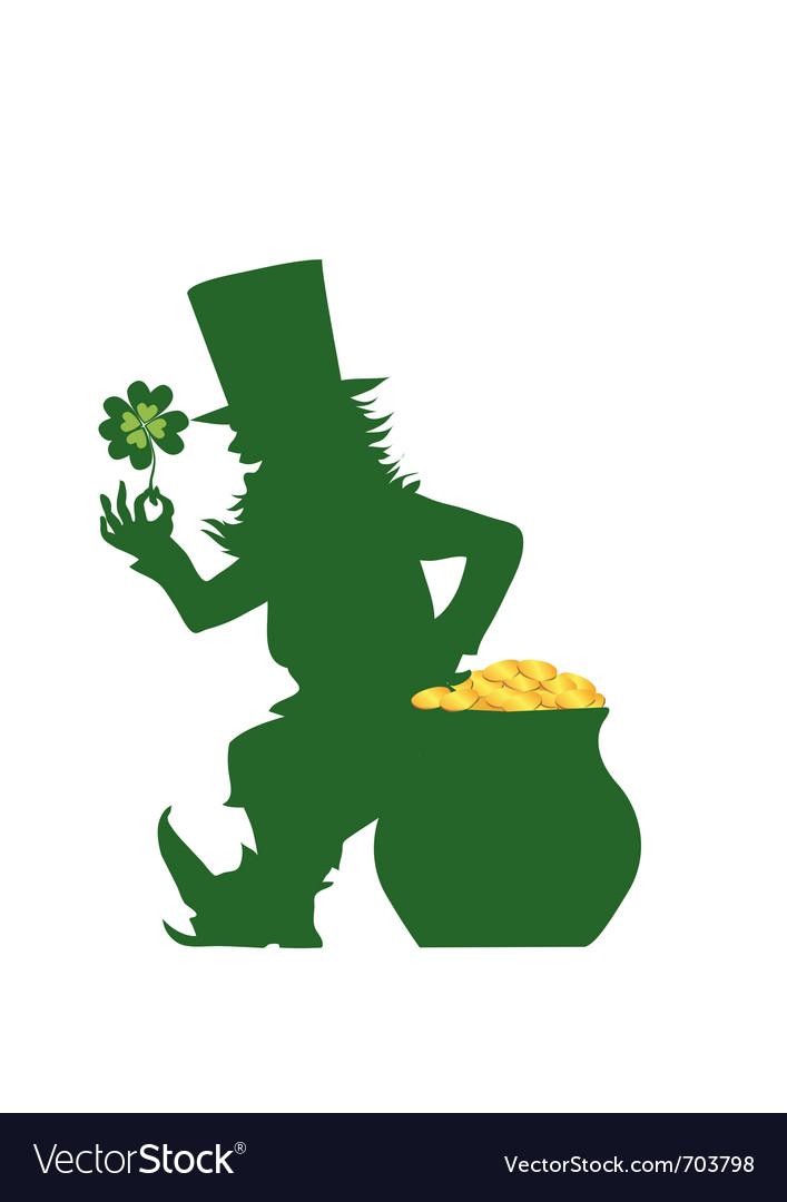 sihouette of leprechaun royalty free vector image rh vectorstock com leprechaun vector png leprechaun vector download