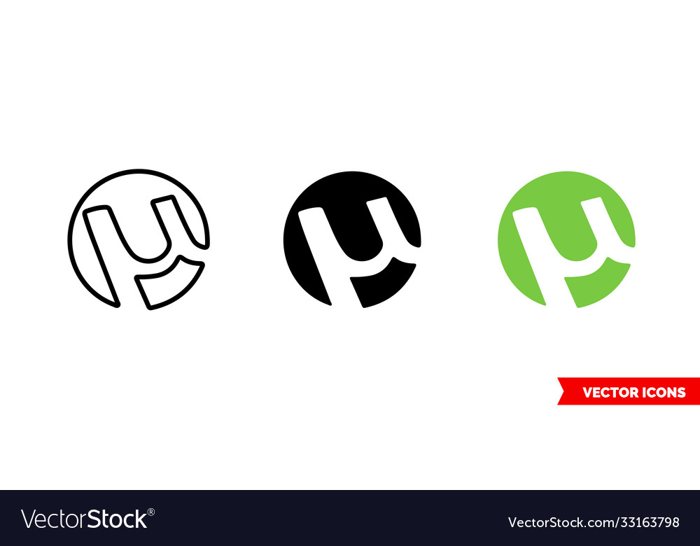 Torrent icon 3 types color black and white