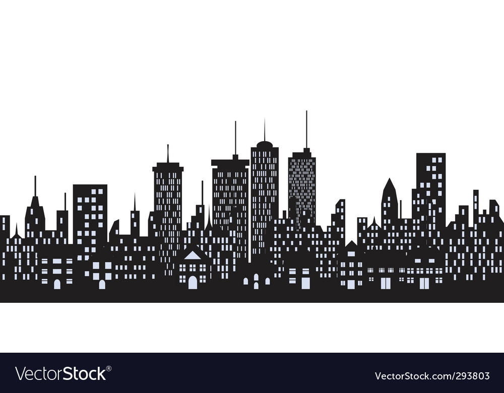 cityscape royalty free vector image vectorstock rh vectorstock com cityscape vector art cityscape vector icon