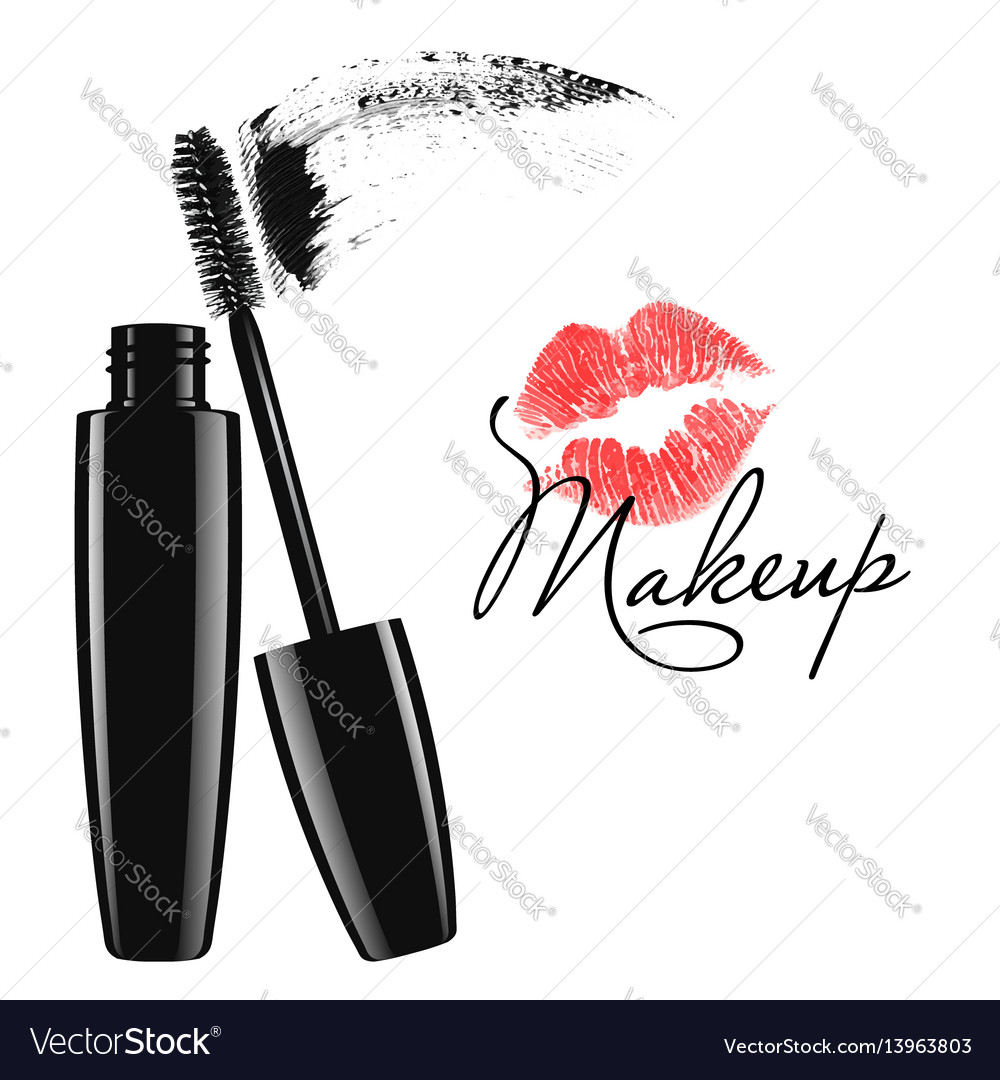 Cosmetic product design mascara tube vector image