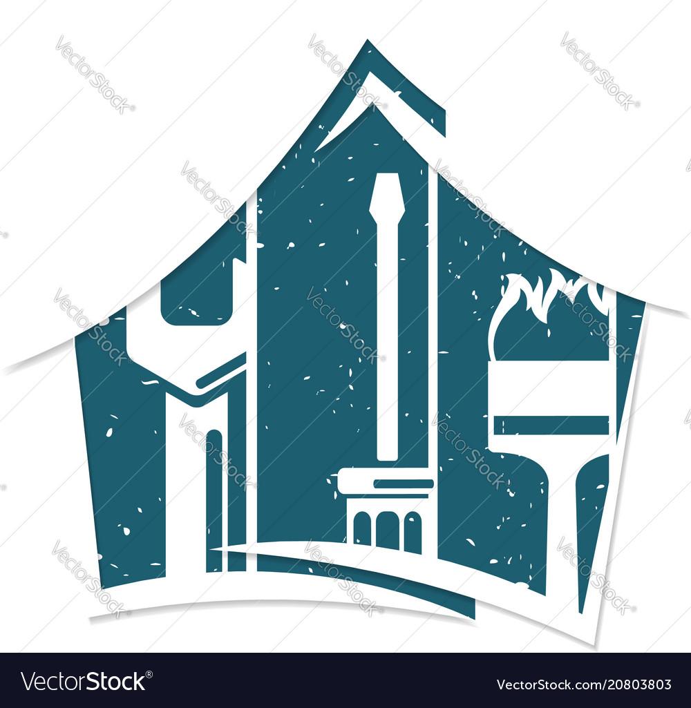 Home repair symbol for business