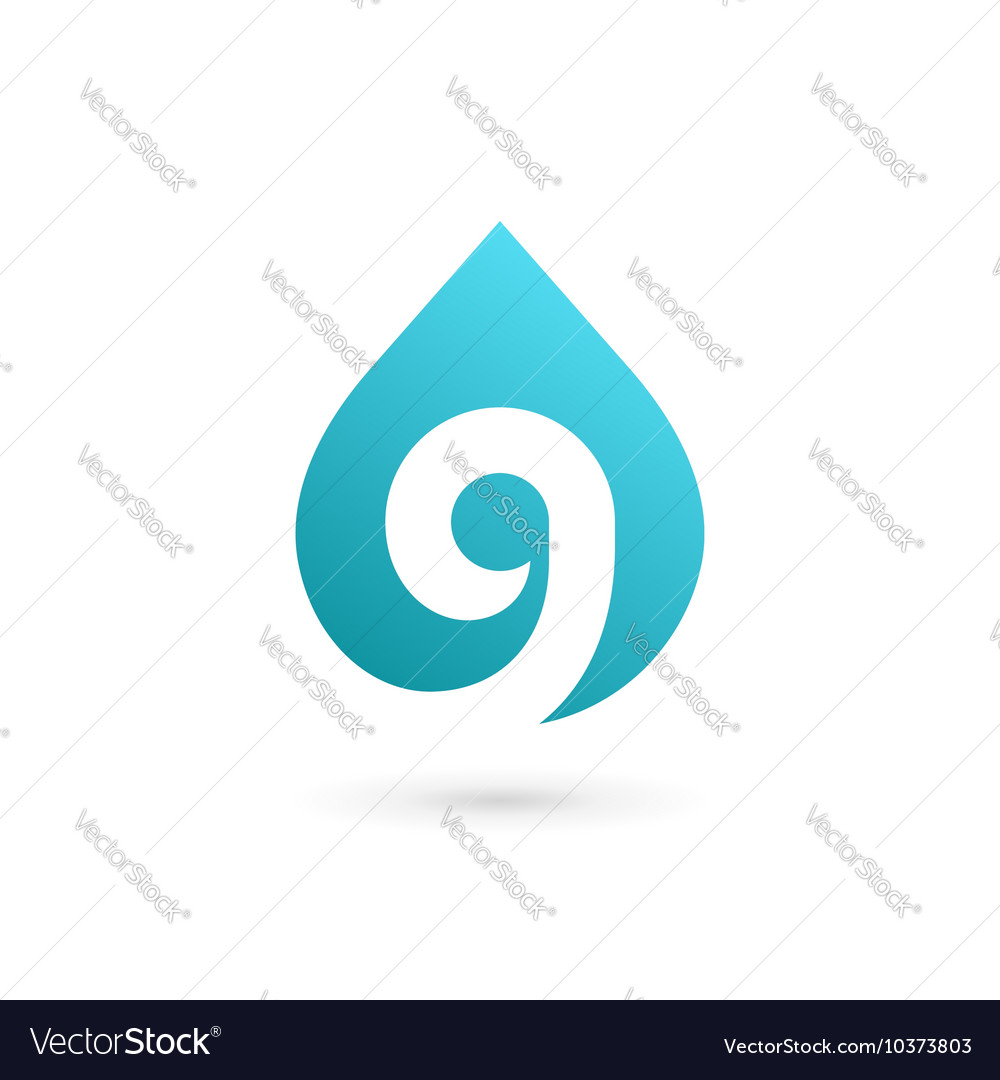 Letter g number 9 water drop logo icon design vector image altavistaventures Images