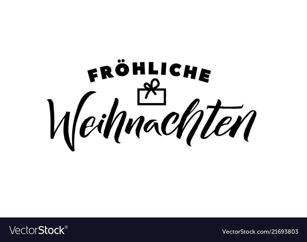 Merry christmas german calligraphy greeting card