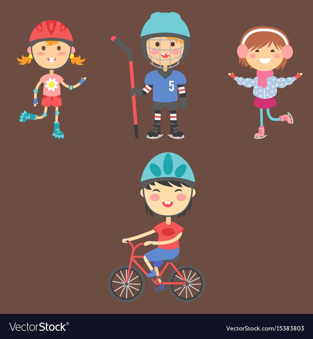Young kids sportsmens future roller skates
