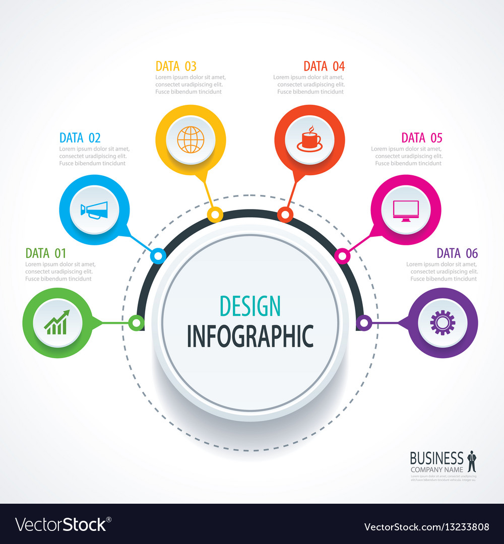 Abstract circle infographics number options