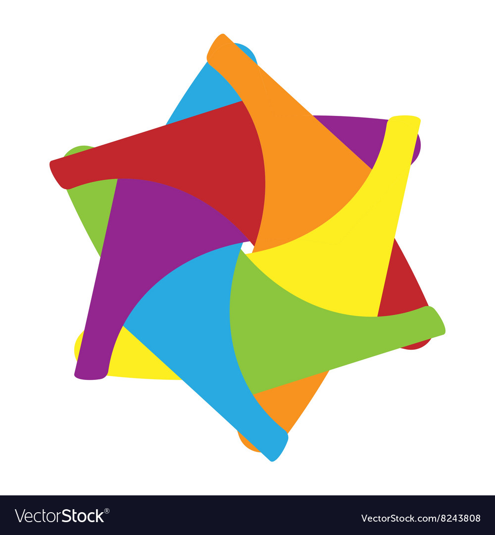 Abstract shape icon cartoon style vector image