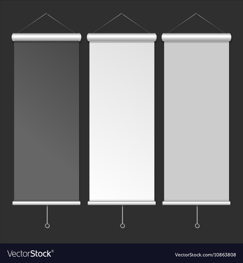 Blank Roll Up Banner Template