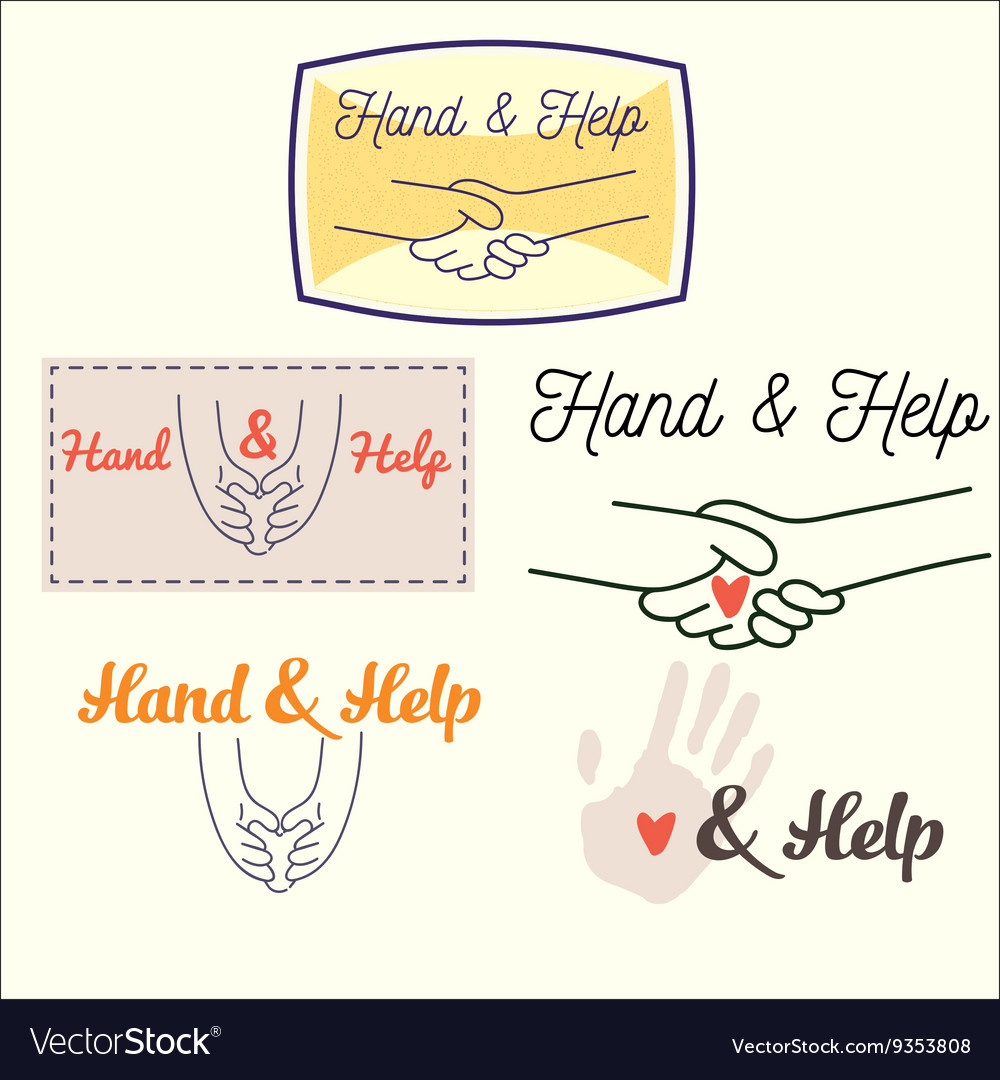 Heand and help set vector image