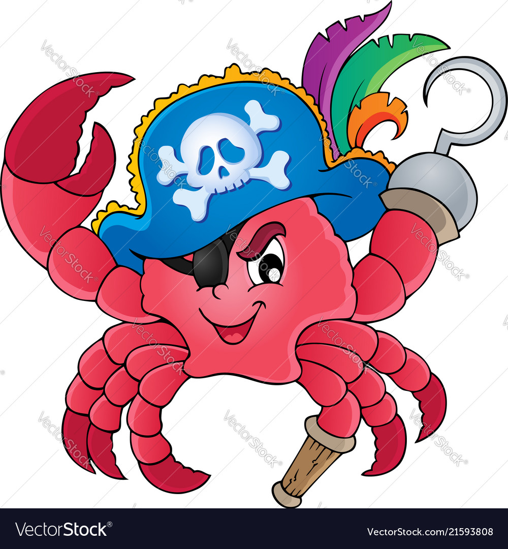 pirate crab theme image 1 royalty free vector image