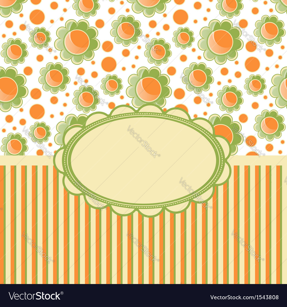 Retro design template with flovers