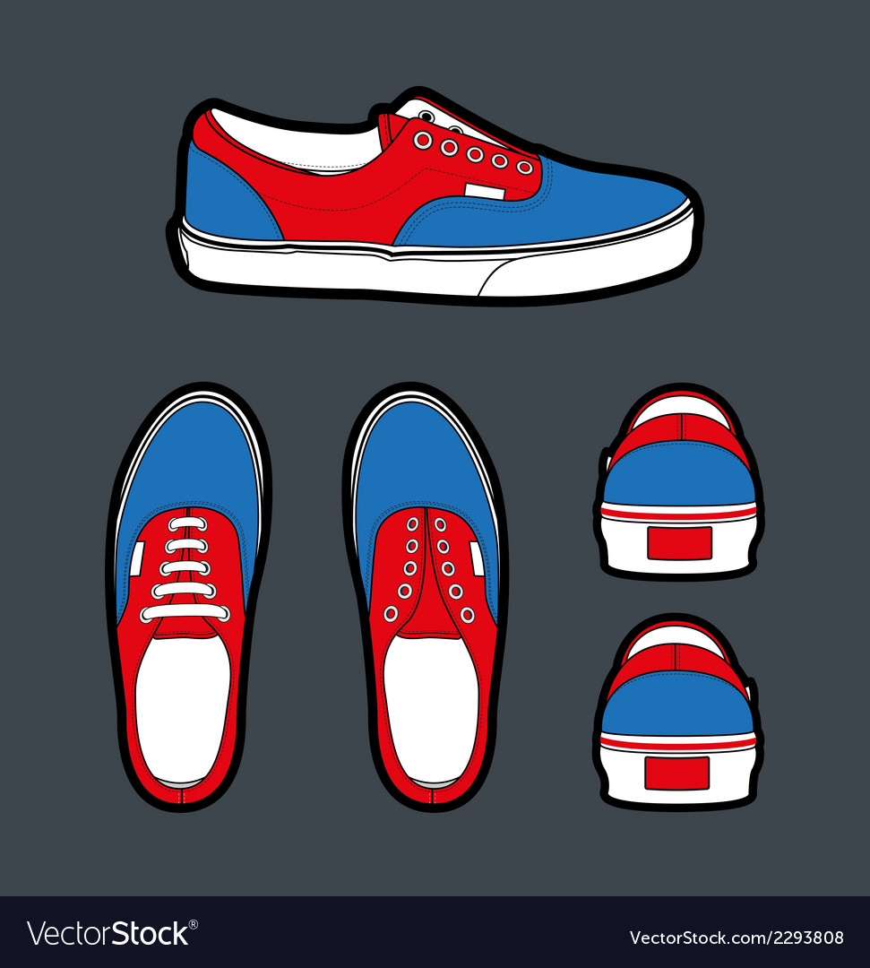 b1a8f23532 Shoes Authentic Royalty Free Vector Image - VectorStock