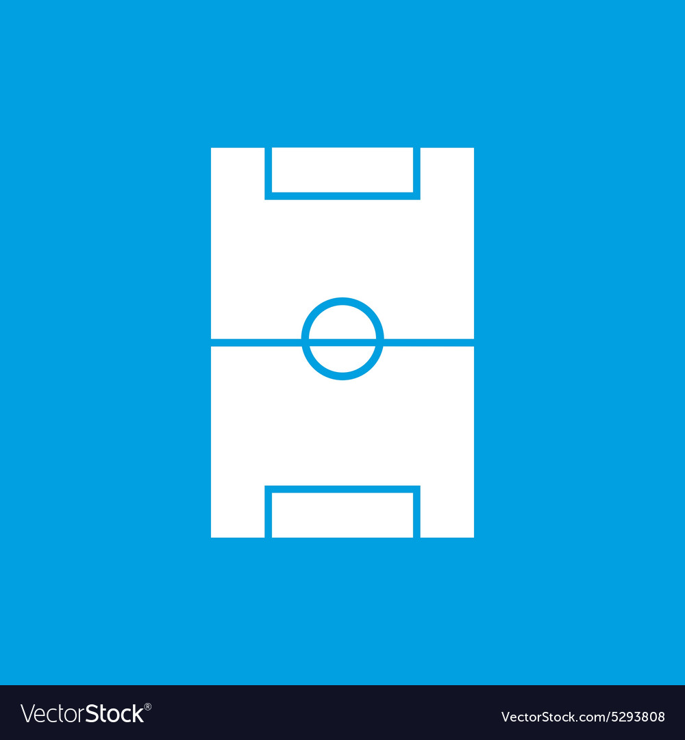 Simple football field blue icon vector image