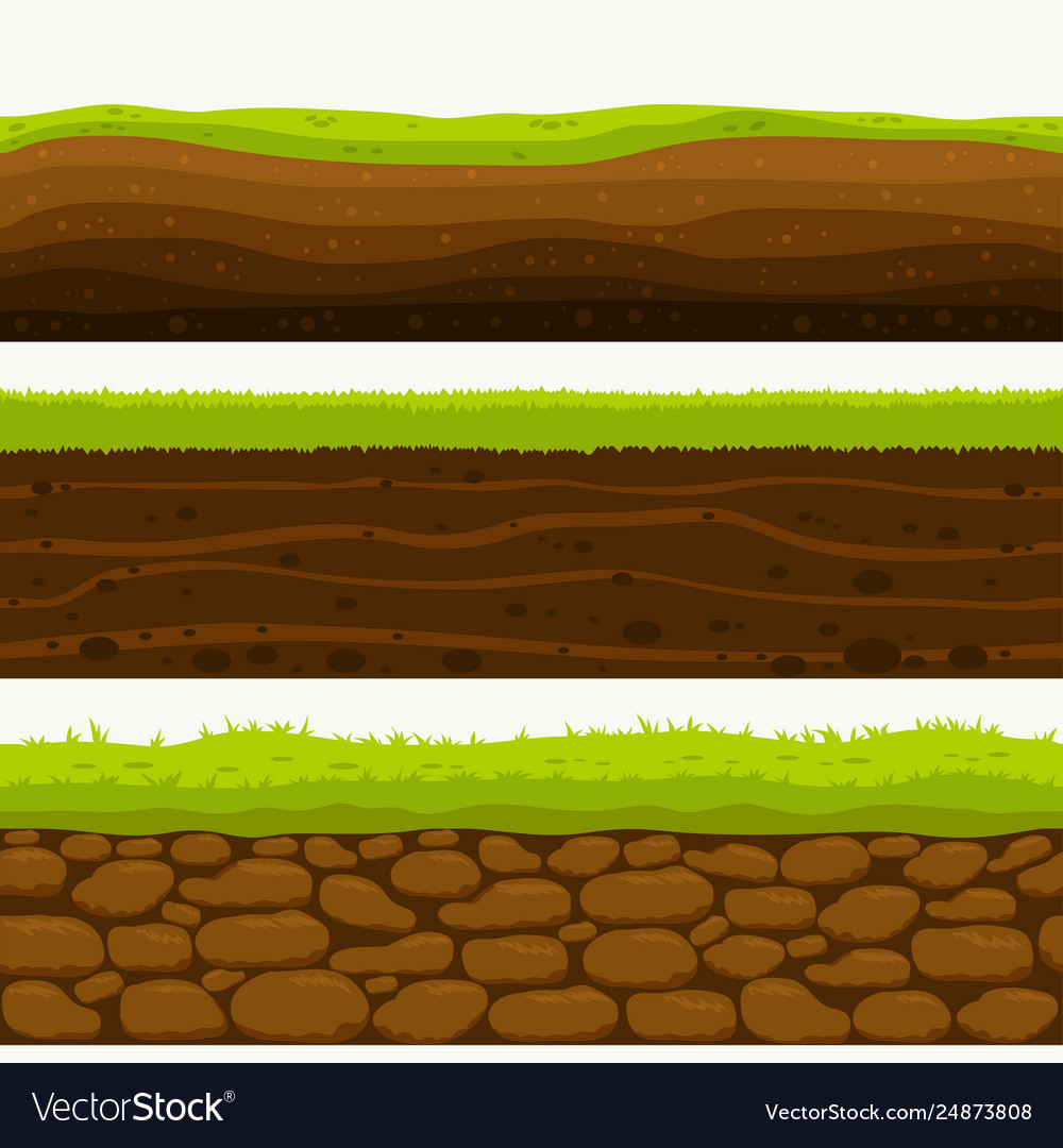 Soil seamless layers ground layer stones and