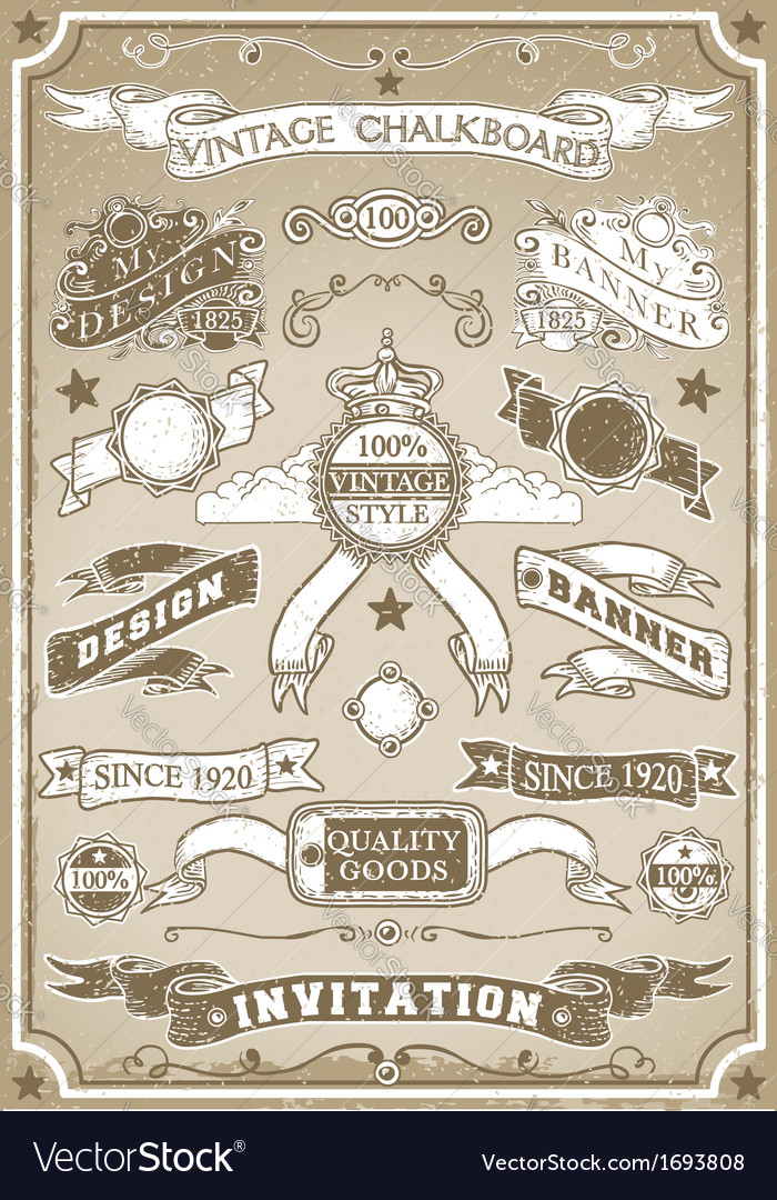 Vintage Hand Drawn Graphic Page Banner