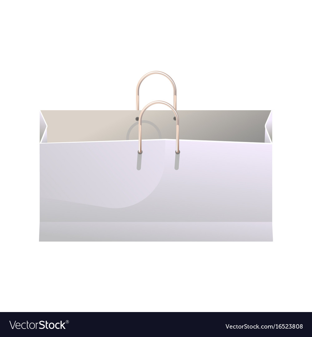 Wide shopping bag vector image