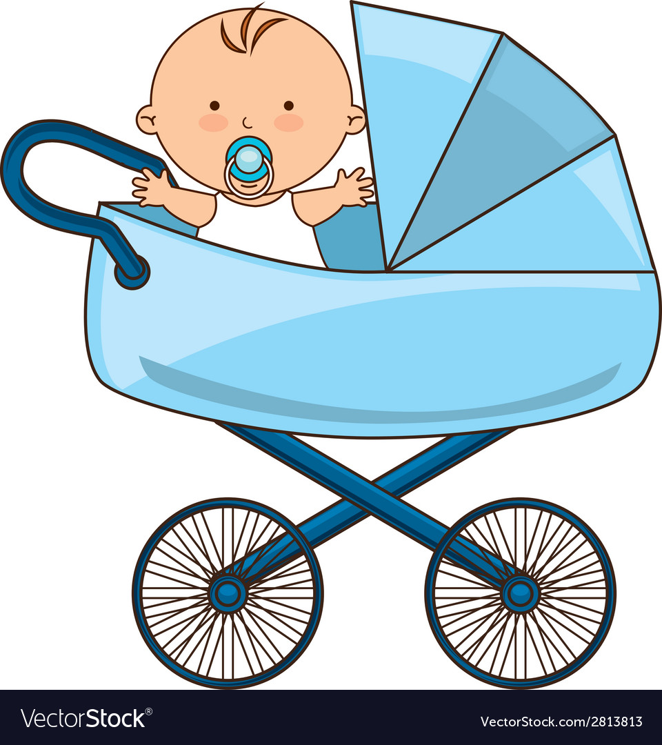 Картинка коляска с малышом