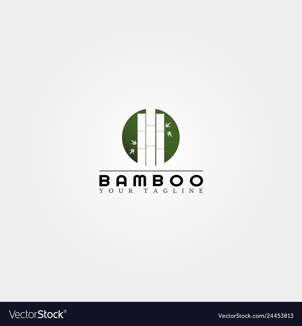 Bamboo logo template creative design for business