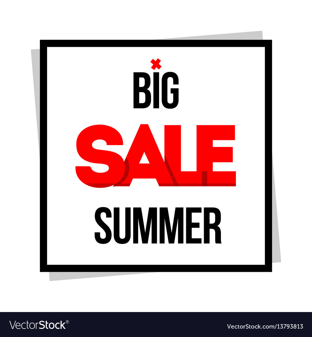 Big sale special offer vector image