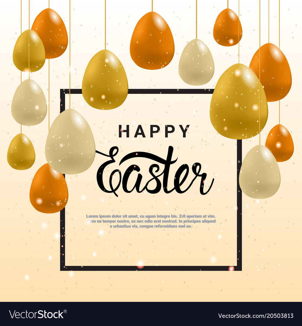 Happy easter greeting card background template