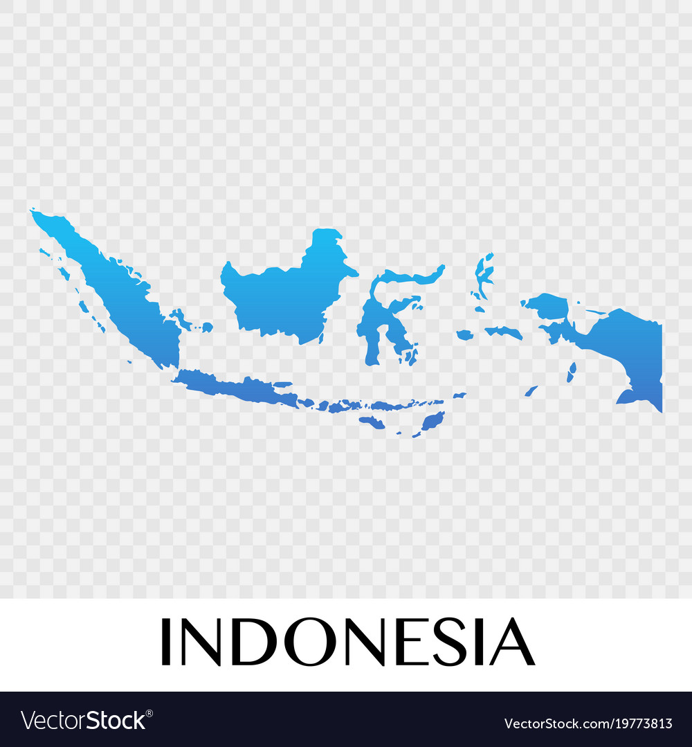 Map Of Asia Indonesia.Indonesia Map In Asia Continent Design Royalty Free Vector