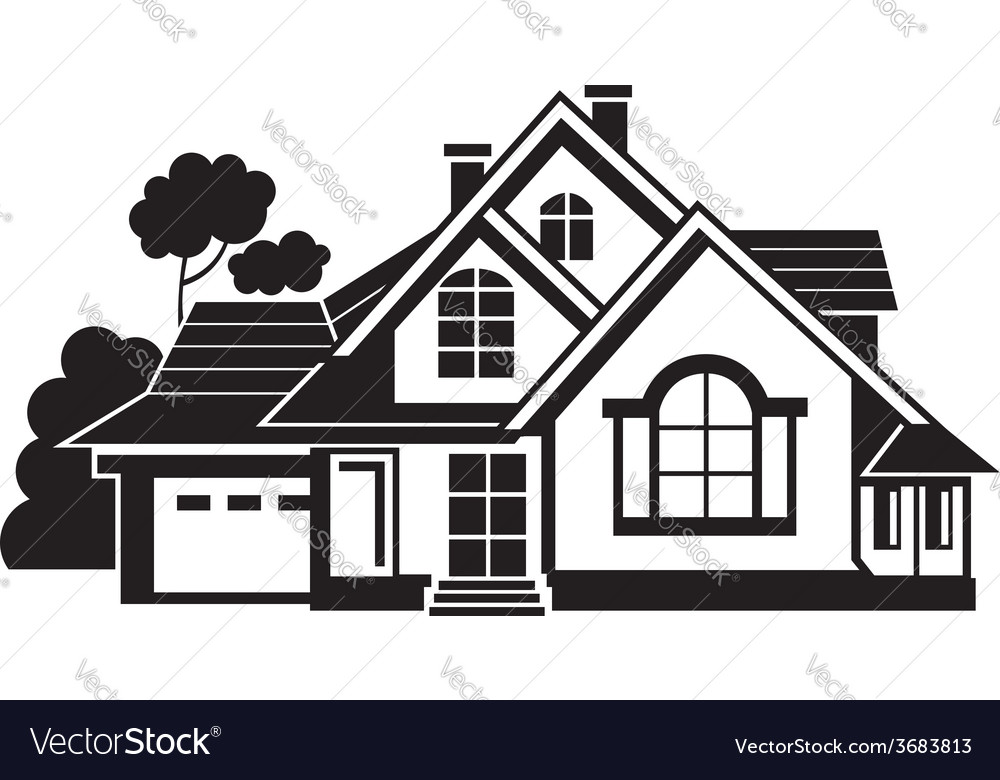 private house royalty free vector image vectorstock rh vectorstock com house vector free download house vector free eps
