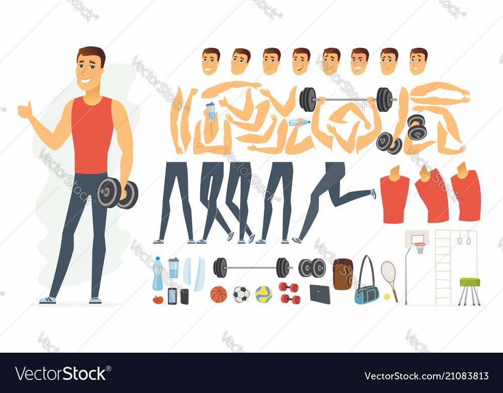 Sportsman - cartoon people character