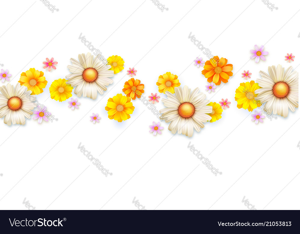 Spring floral abstract pattern with bud summer