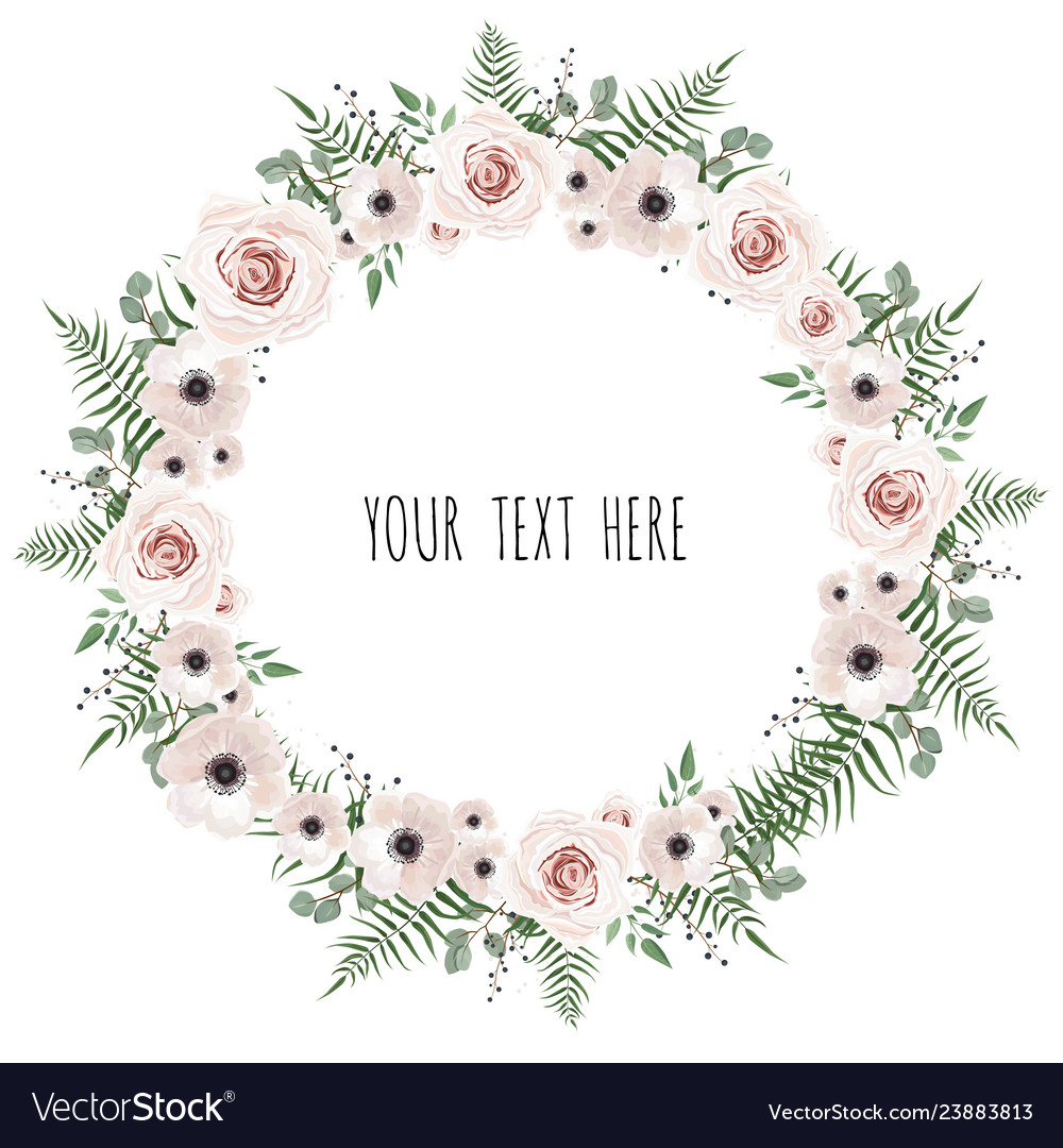Stylish floral design round frame