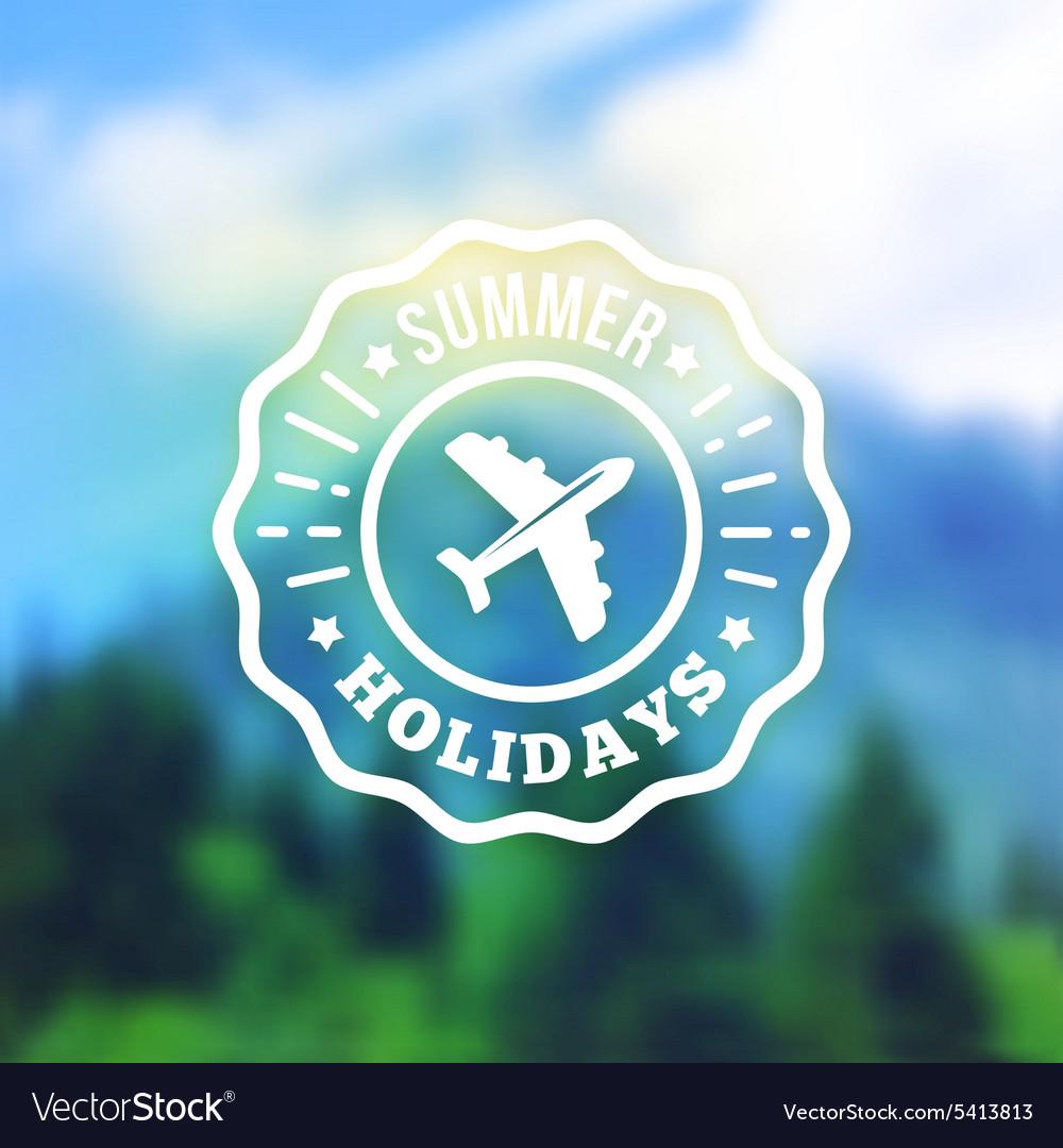 Summer vacation retro label badge on