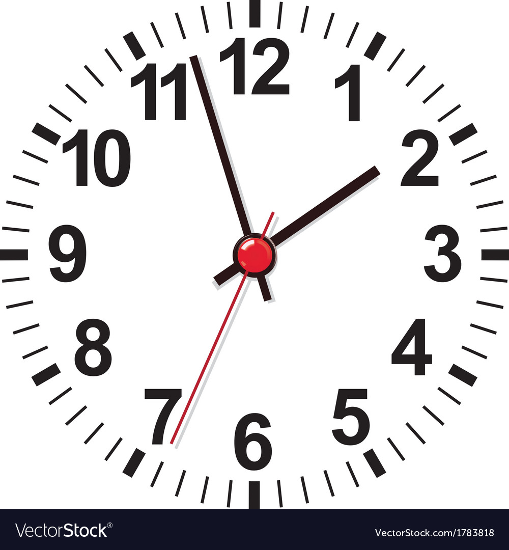 clock face royalty free vector image - vectorstock
