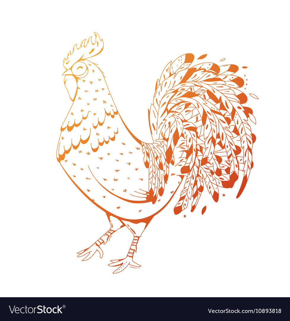Fire Rooster symbol 2017 by the Chinese calendar