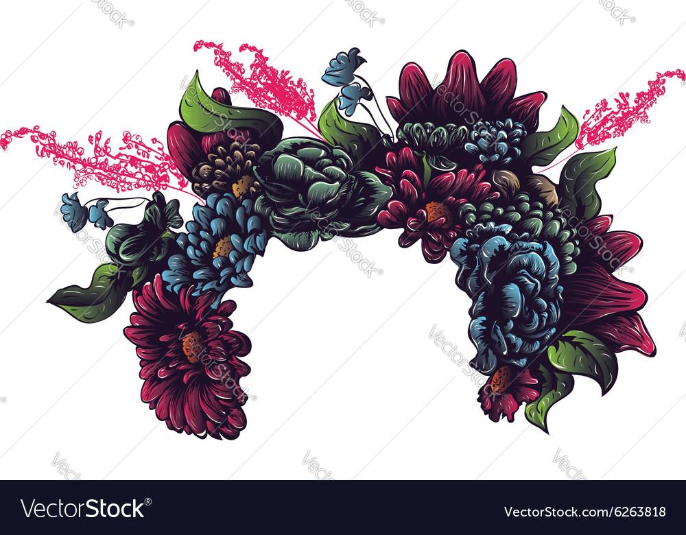 Flower Crown vector image