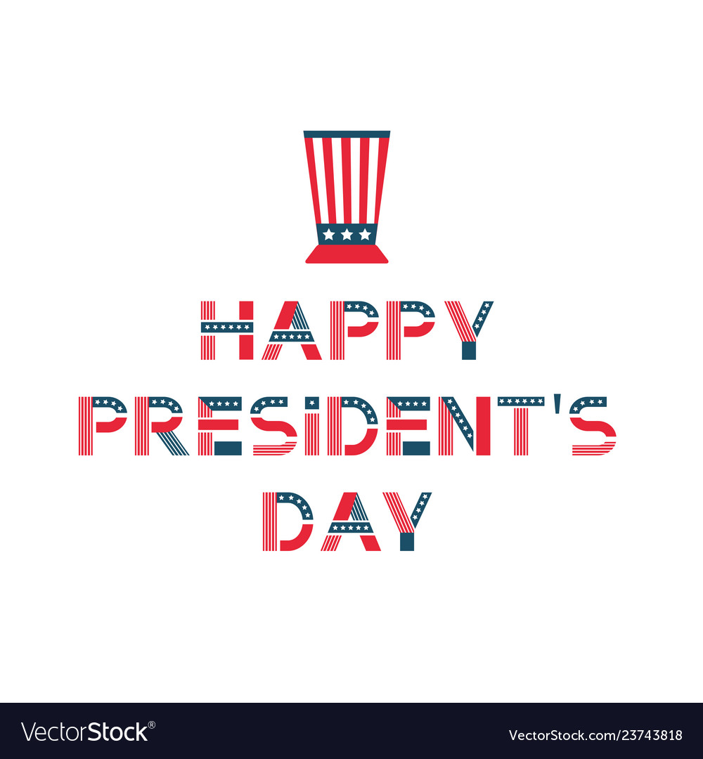 Happy presidents day label united states federal
