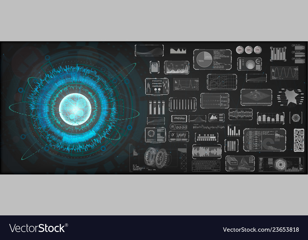 High-tech design elements set