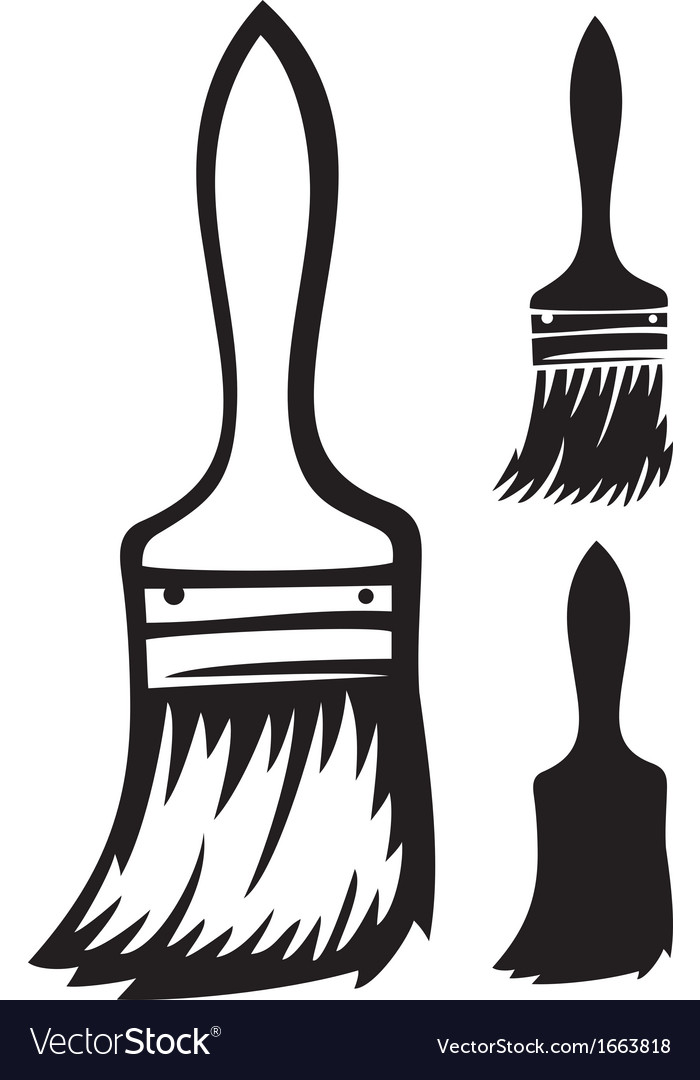 paint brush royalty free vector image vectorstock rh vectorstock com paint brush vector illustrator paint brush vector png