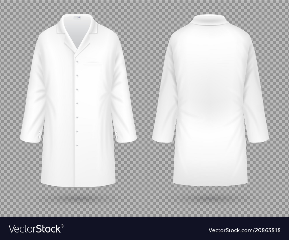 Realistic white medical lab coat hospital