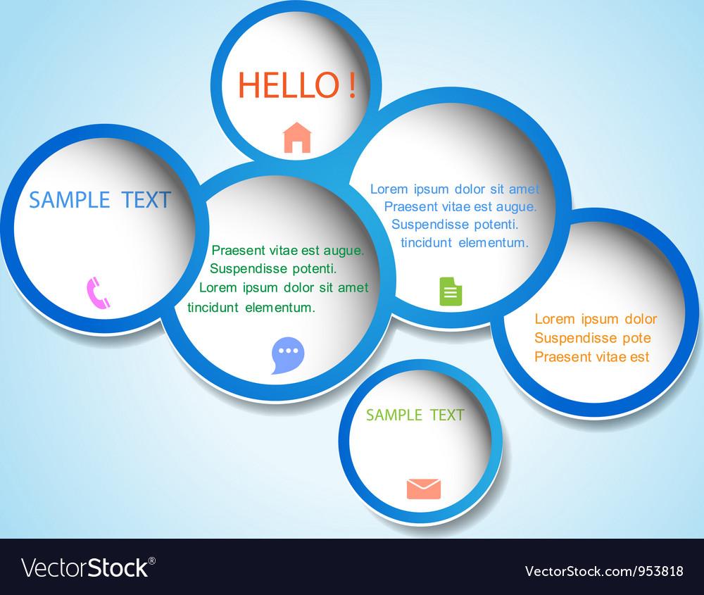 Trendy web design bubbles