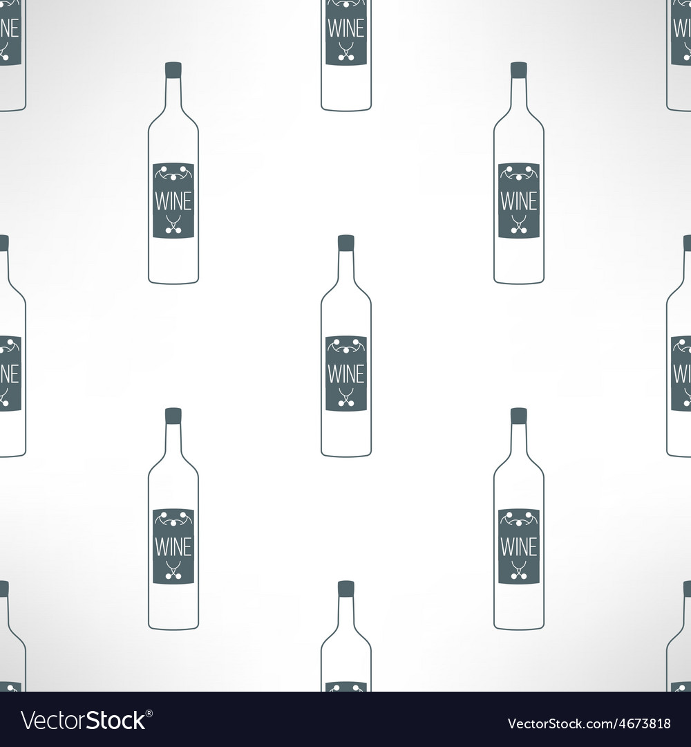 Wine bottles seamless pattern in modern