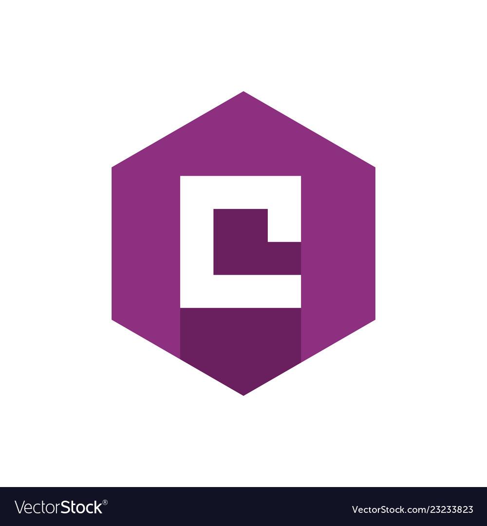 Alphabet letter c initial letter c icon