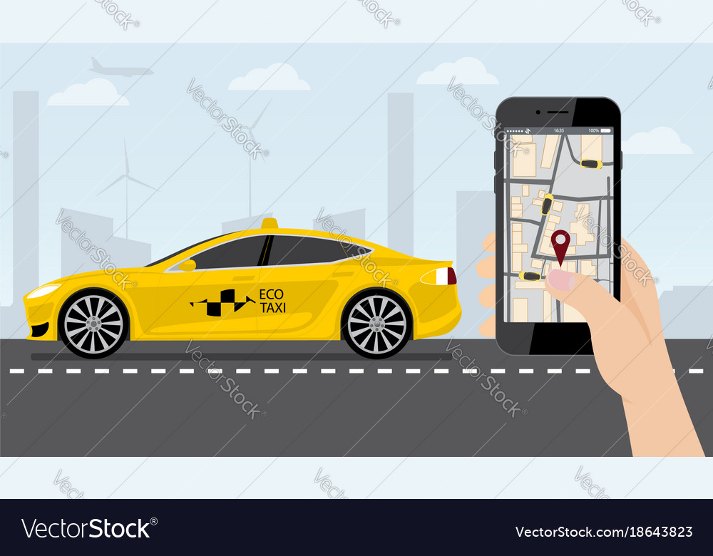 Application for ordering a taxi