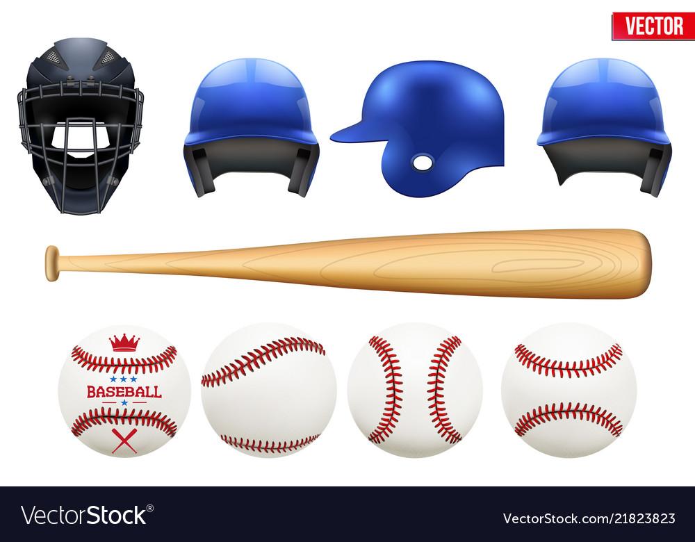 Big set of baseball equipment