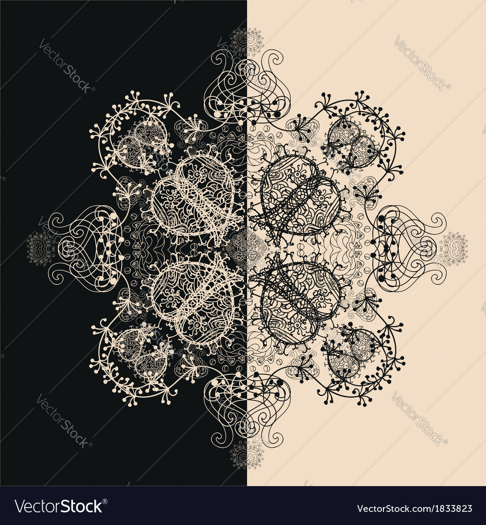 Blue Floral Seamless Pattern on White