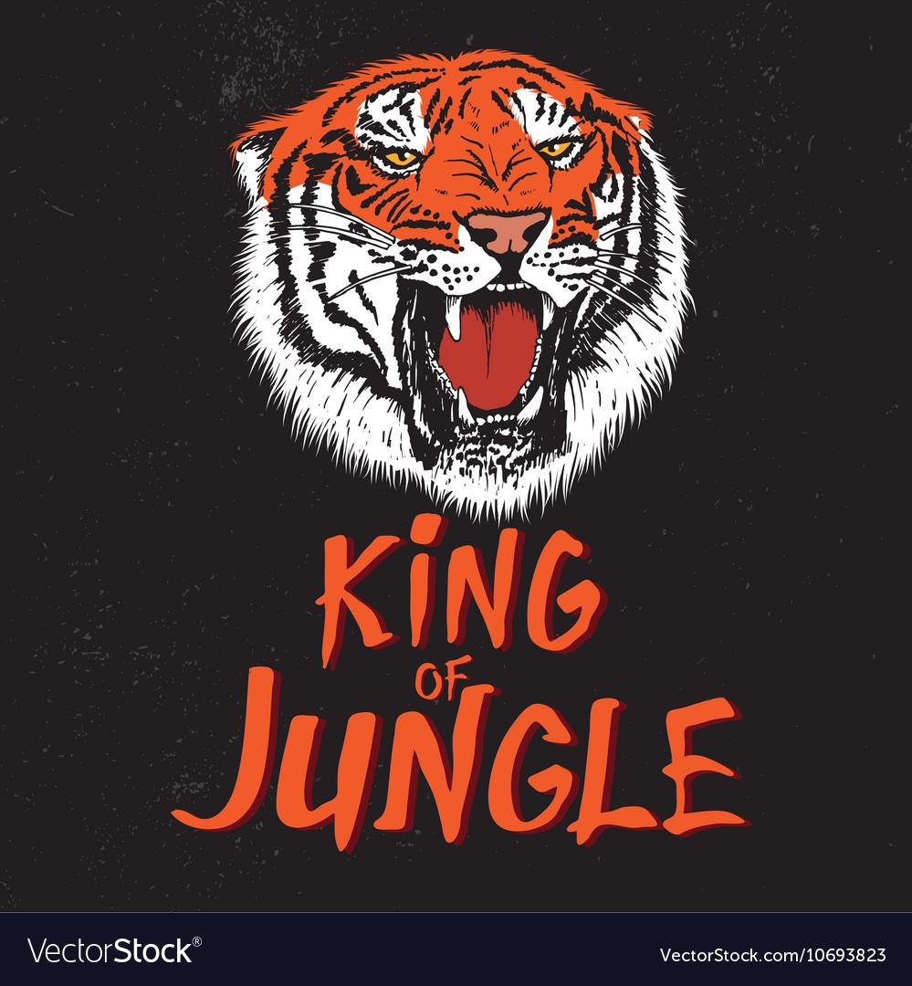 Color label with tiger head