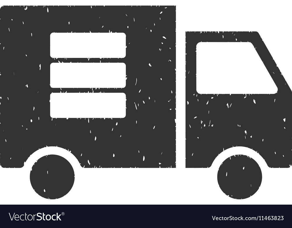 Data Transfer Van Icon Rubber Stamp vector image