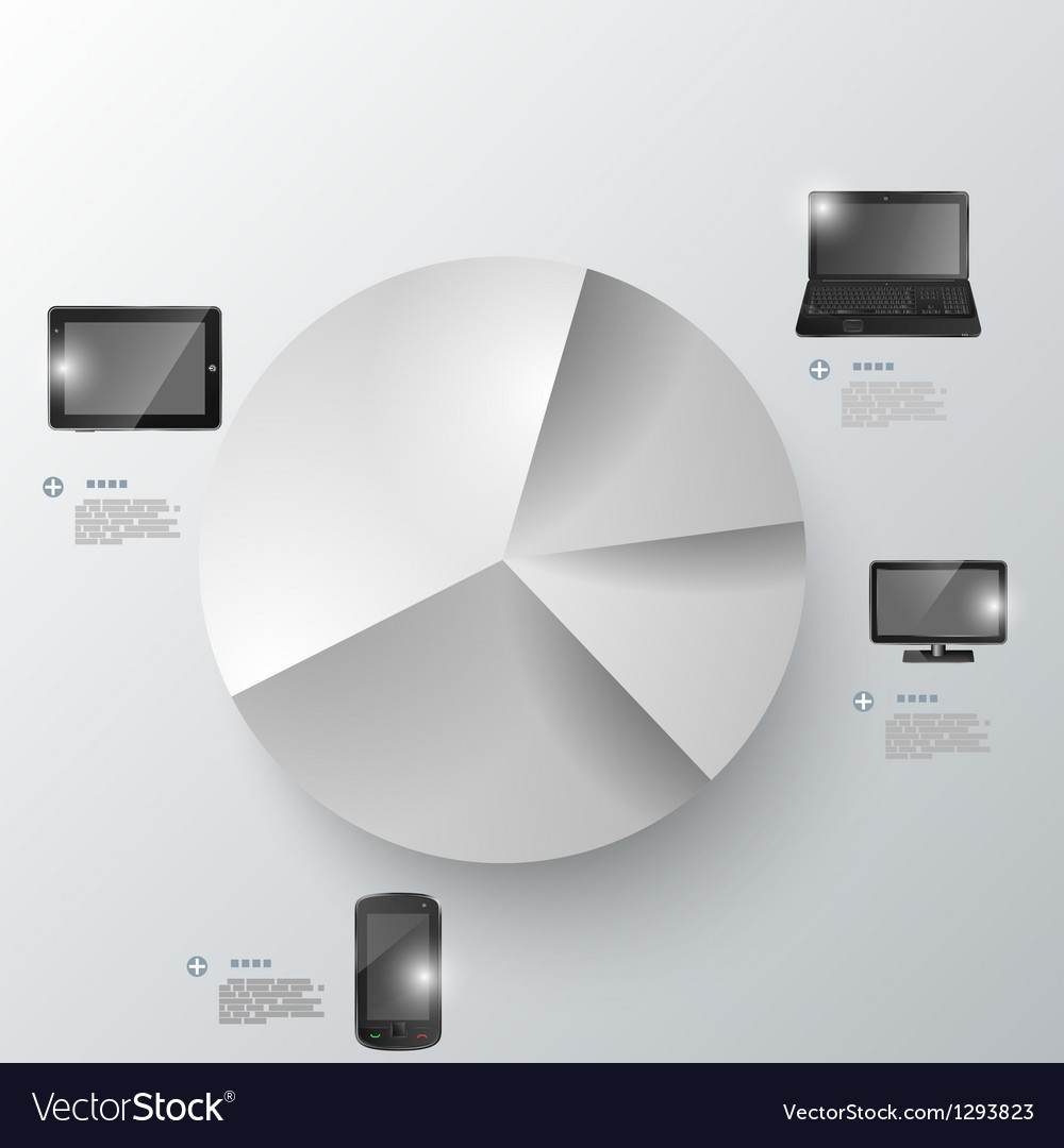 Electronic devices infographic presentation vector image