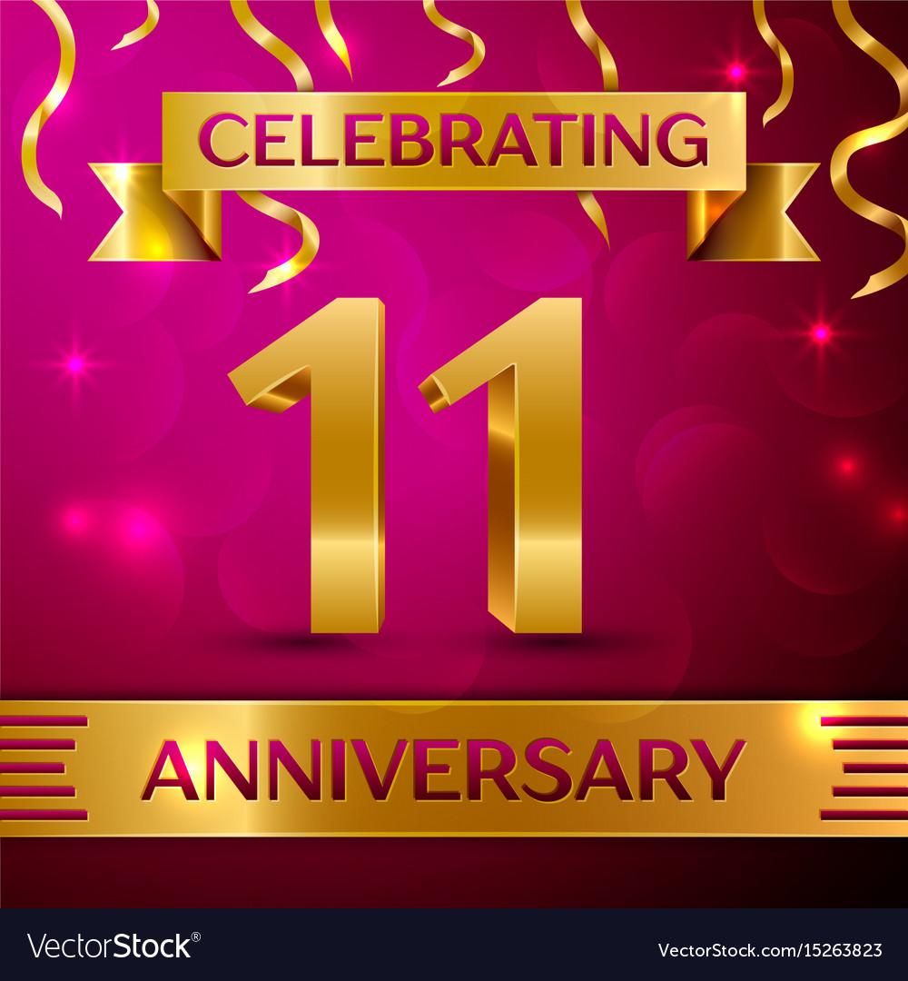 Eleven years anniversary celebration design