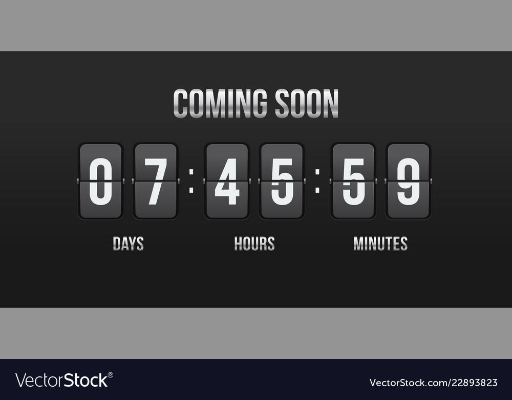 Flip countdown coming soon counter