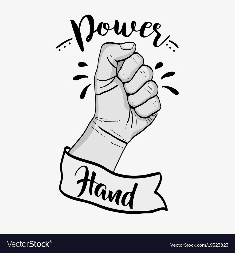 Power hand strong revolution protest